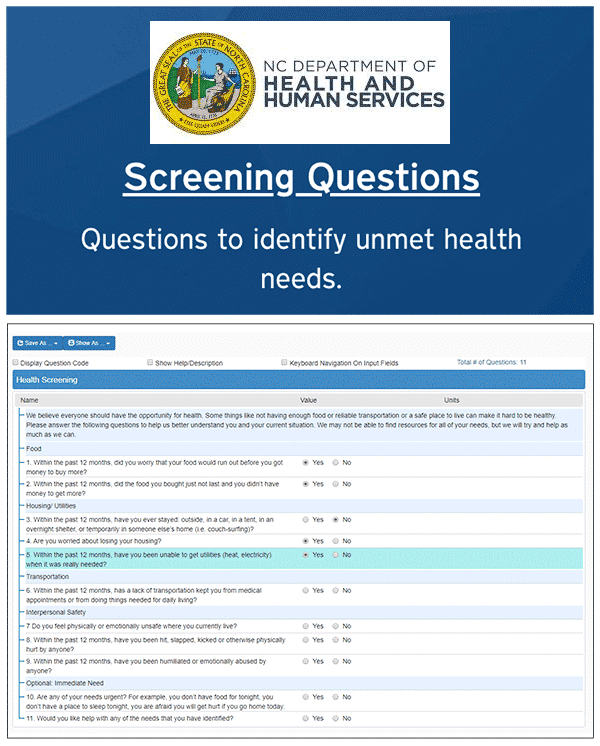 Interoperability SDOH Screening Assessment