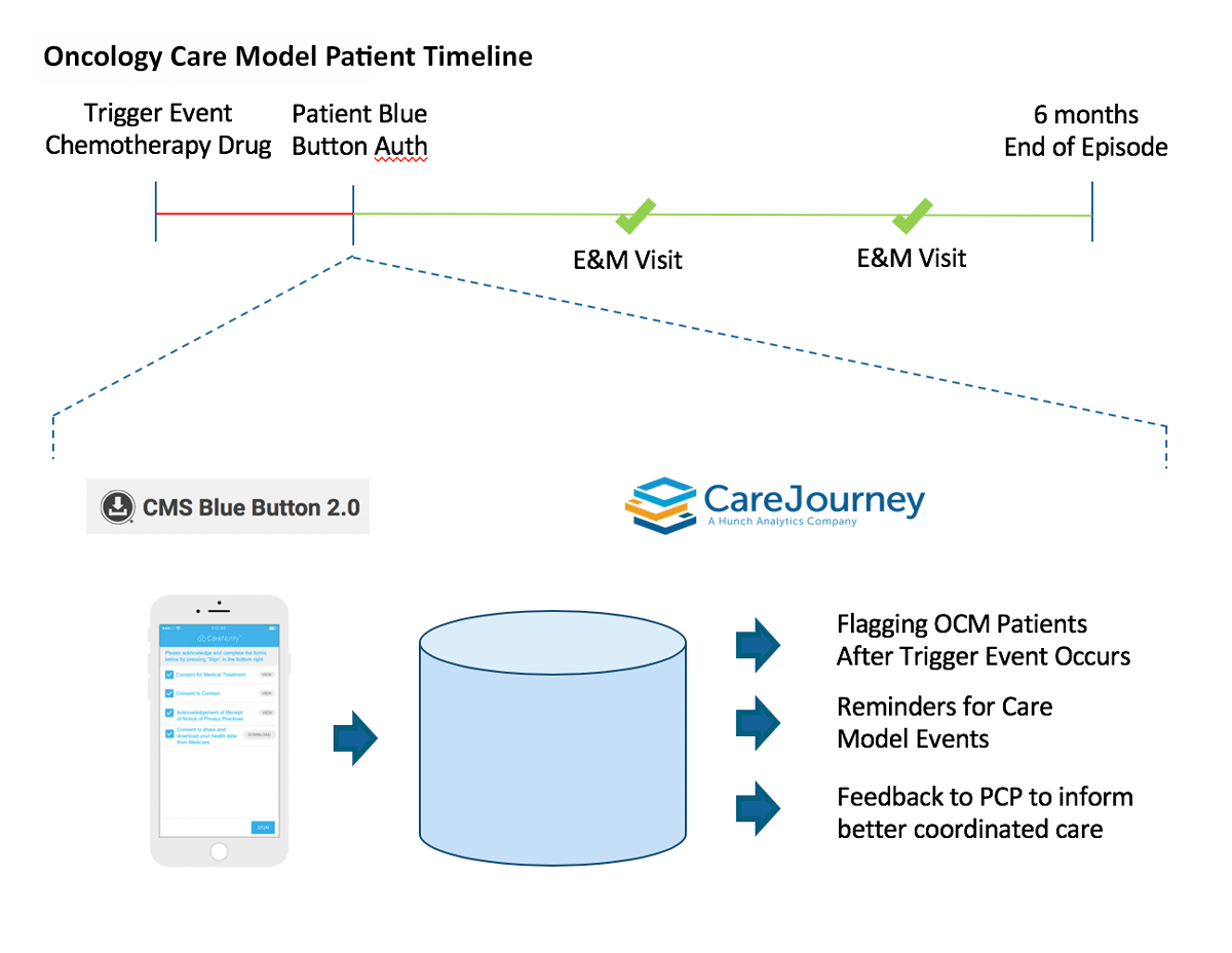 Blue Button OCM Patient Timeline